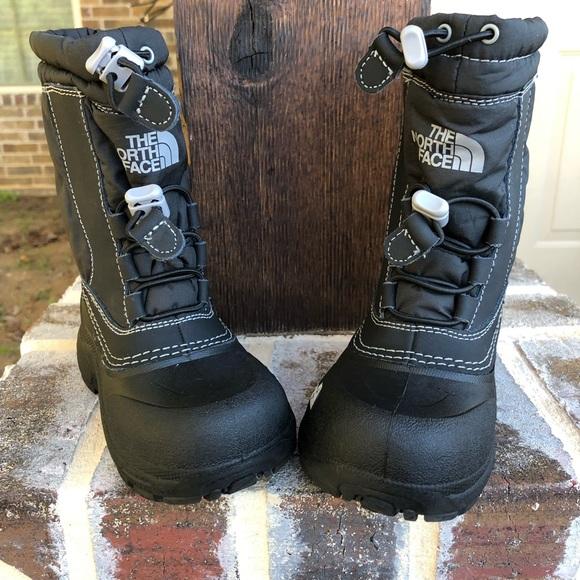 d935e0cfc North Face Kids Boy Black Winter Snow Boots Sz 10